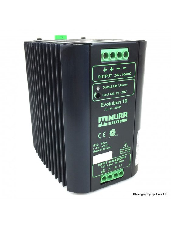 Блок питания 3Ph Power Supply 85001 Murr Elektronik IN: 360-520VAC OUT: 22-28VDC/10A