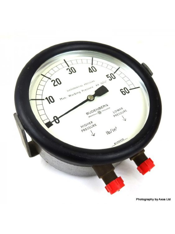 Pressure Gauge 1/11/P18 Budenberg 0-60lb in2 6inch dial 111P18 *New*
